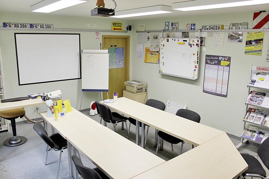 Unterrichtsraum Fahrschule Sandig Brand-Erbisdorf Freiberg Führerschein